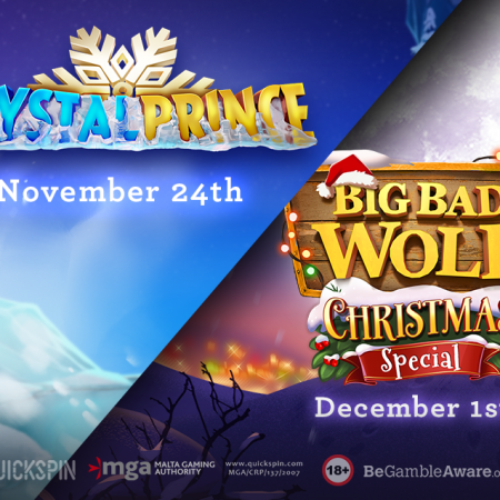 Quickspin's New Realises: Crystal Prince, Big Bad Wolf Christmas Special and Loco the Monkey