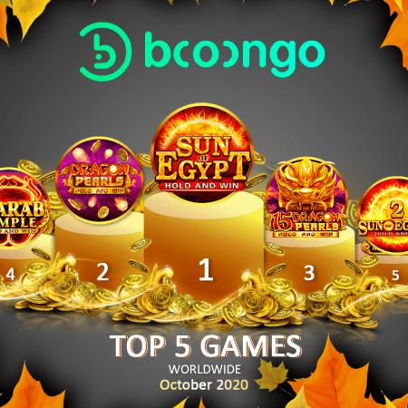 Booongo: TOP 5 GAMES IN OCTOBER 2020